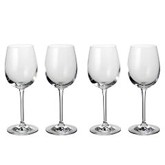Home Collection Small Crystal Glass White Wine Glasses 4 Pack