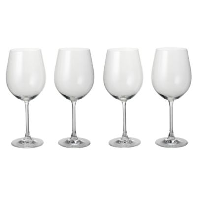 Home Collection Crystal Glass Bordeaux Glasses 4 Pack - image 1