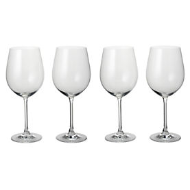 Home Collection Crystal Glass Bordeaux Glasses 4 Pack