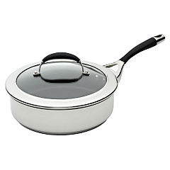 Circulon Steel Elite Covered Saute Pan 24cm