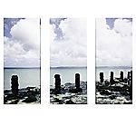 Rocky Beach Set of 3 Wall Art 70x90cm
