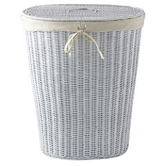 Traditional Linen Bin White