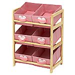 Children's Hearts 6 Bin Toy Storage