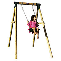 Plum Bush Baby Wooden Swing Set
