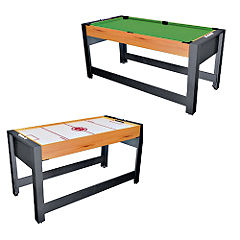 Unbranded 4 2 in 1 Pool and Air Hockey Table