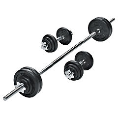 York 50kg Cast Iron Barbell and Dumbbell Set