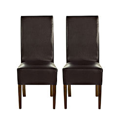 Gatsby Pair of Faux Leather Upholstered Dining Chairs
