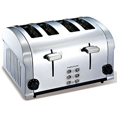 Morphy Richards Accents Die Cast 4 Slice Toaster Stainless Steel