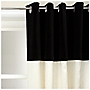 Tu Contrast Faux Silk/Velvet Eyelet Curtains Cream/Black