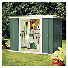 Rowlinson 8x4 Metal Shed Pent Roof
