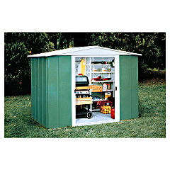 Rowlinson 8x7 Metal Shed Apex Roof