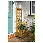Square Planter with Trellis