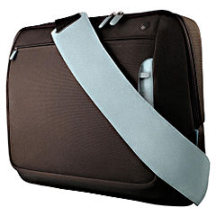 Statutory Belkin 17` Messenger Bag Chocolate/Tourmaline