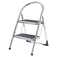 Abru Blue Seal 2 Tread Chrome Step Stool
