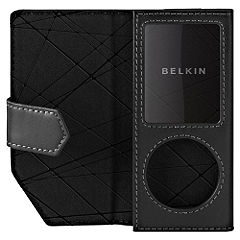 Belkin Components Belkin Ipod Nano 4G leather folio black
