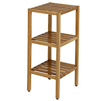 Oak 3 Tier Shelving Unit