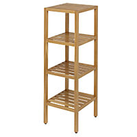 Oak 4 Tier Shelving Unit