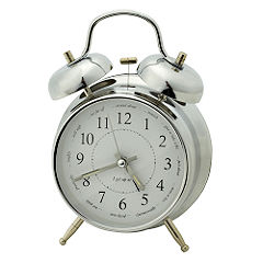 Tu Bell Alarm Clock Metallic Finish