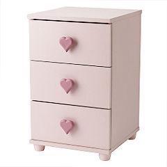 Furniture Florida Narrow 3 Drawer Bedside Cabinet
