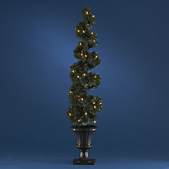 Unbranded Sainsburys Low Voltage Pre-Lit Spiral Tree