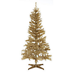 statutory sainsburys artificial christmas tree 6ft gold. Black Bedroom Furniture Sets. Home Design Ideas