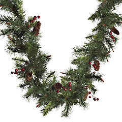 Sainsburys Christmas Garland 9ft Mixed Tips