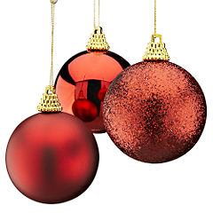 Sainsburys 60mm Shatterproof Red Baubles