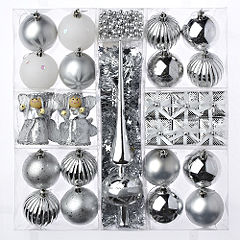 Sainsburys 29-peice Silver Decorations Box