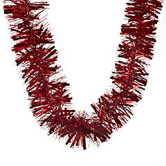 Sainsburys Luxury Tinsel 2m Red Statutory