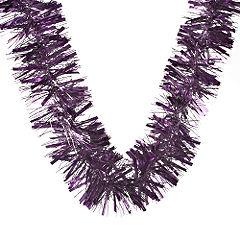 Sainsburys Luxury Tinsel 2m Purple Statutory