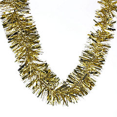 Sainsburys Luxury Tinsel 2m Gold Statutory