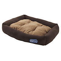 RSPCA Brown and Tan Rectangular Pet Bed
