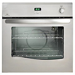 New World NW60G Gas Oven Satin Steel