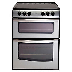 New World E60DSS Electric Cooker Satin Steel
