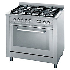 Hotpoint EG900X Dual-Fuel Cooker Stainless Steel