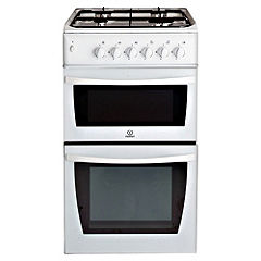 Indesit KD3G2SWIR Gas Cooker White