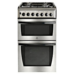 Indesit KD3G21SXIR Gas Cooker Stainless Steel