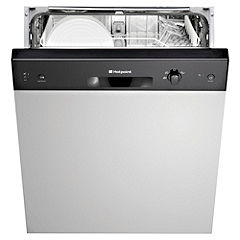 Hotpoint LFS114B Full-Size Semi-Integrated Dishwasher Brown