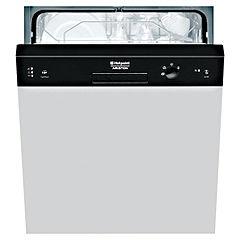 Hotpoint LFS114K Full-Size Semi-Integrated Dishwasher Black