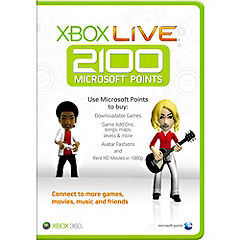 Xbox Live 2,100 Microsoft Points Card Statutory product image