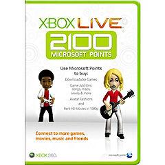 Xbox Live 2,100 Microsoft Points Card Statutory