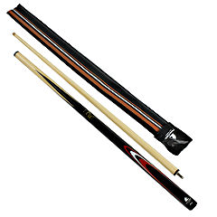 Powerglide Classic Aura Two-Piece Cue Set Black/Wood