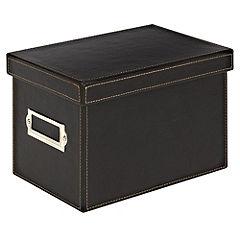 Tu Faux Leather CD/DVD Box Brown