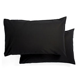 Tu Pillowcase Non-iron Black Pair