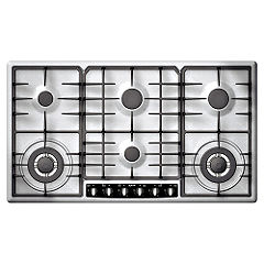 Neff T29S96N0 Gas Hob Stainless Steel
