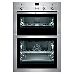 Neff U14M42 Electric Double Oven Stainless Steel