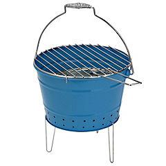 Sainsbury's Bucket Charcoal BBQ Turquoise