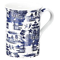 Tu Blue Oriental China Mug