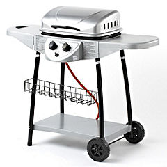 Sainsbury's Steel 2-burner Gas Barbecue
