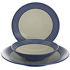Statutory Denby Intro Stripes 12-piece Dinner Set Blue - review ...